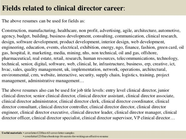 ... 16. Fields Related To Clinical ...