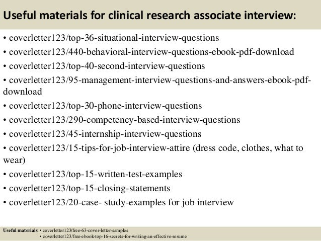 ... 12. Useful Materials For Clinical Research Associate ...
