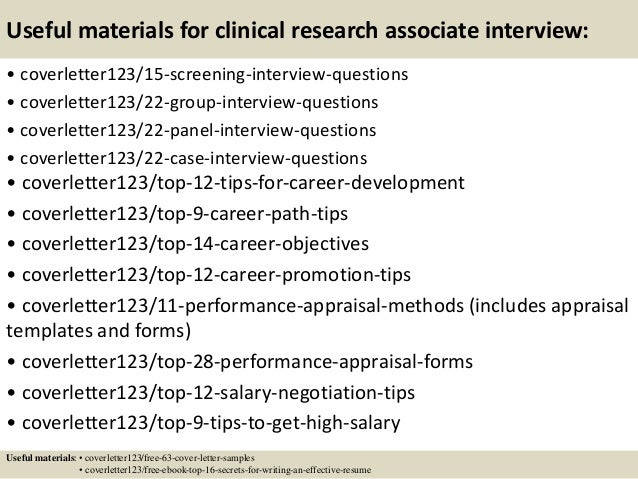 ... 15. Useful Materials For Clinical Research Associate ...