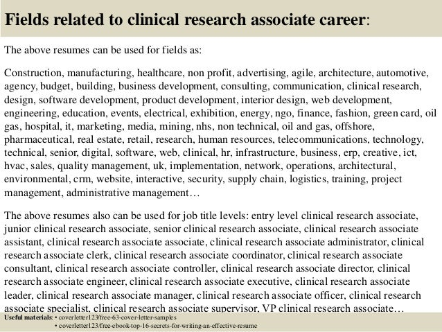 Cover Letter Sample For Research Job - Professional Research ...