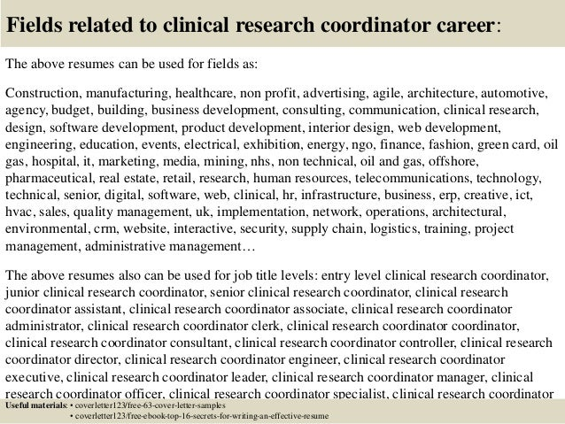 clinical research cover letters