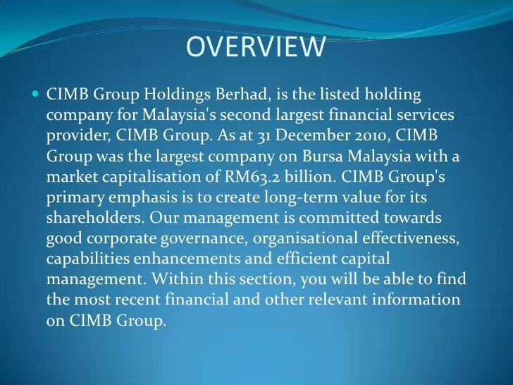 CIMB Annual Report 2009 | Association Of Southeast Asian ...