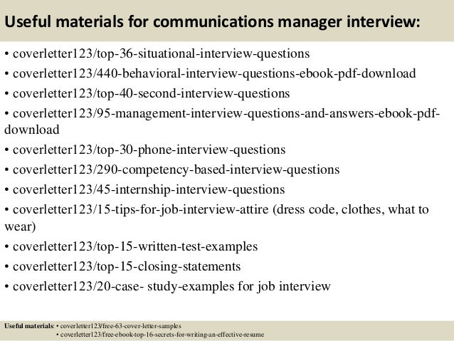 Communications Director Cover Letter from image.slidesharecdn.com