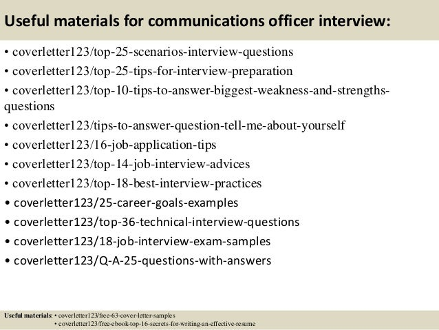 13 useful materials for communications - Sample Cover Letter For Communications Job