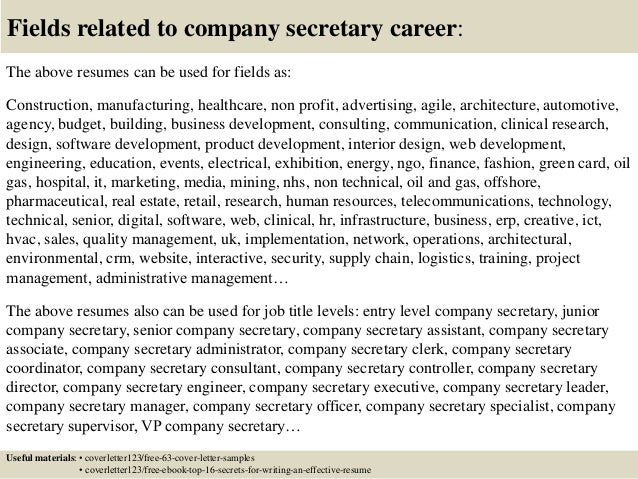 16 fields related to company - Cover Letter To Company