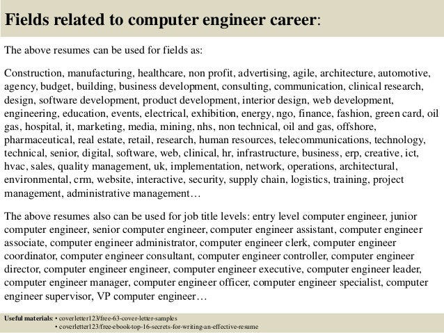 ... 16. Fields Related To Computer Engineer ...