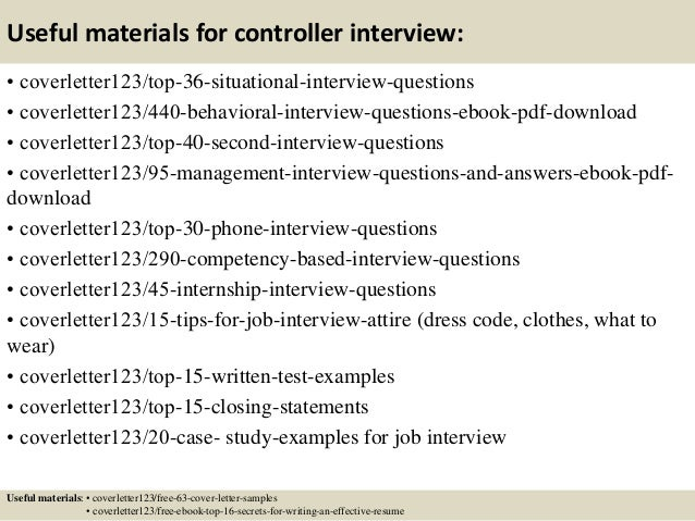 ... 12. Useful Materials For Controller ...