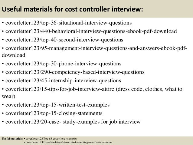 Superb Project Cost Controller Cover Letter Top 5 Cost Controller Cover
