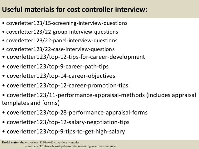 Attractive ... 15. Useful Materials For Cost Controller ...