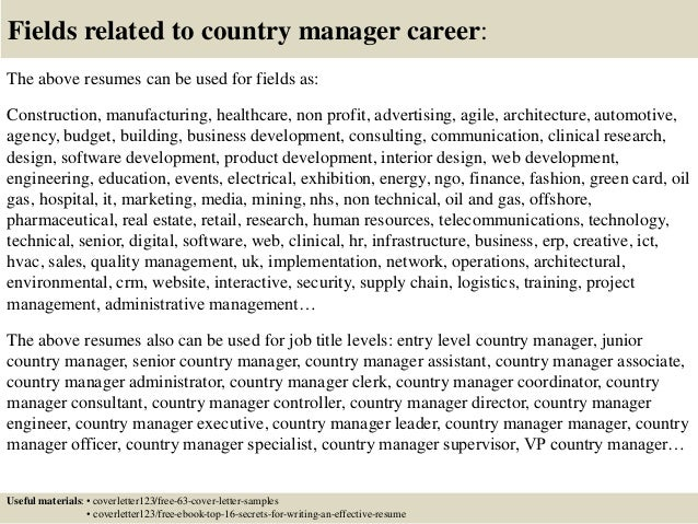 Top 5 country manager cover letter samples 16 fields related to country manager thecheapjerseys Image collections