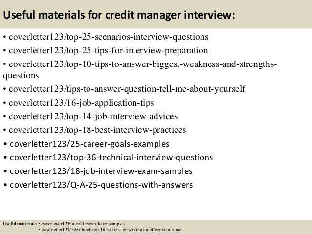 Top 5 credit manager cover letter samples