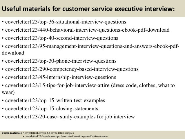 ... 12. Useful Materials For Customer Service Executive ...