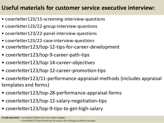 top 5 customer service executive cover letter samples
