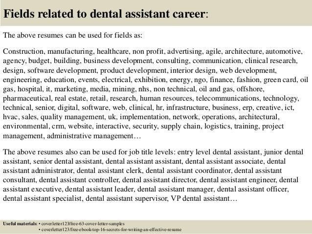 cover letter sample for dental assistant - Gese.ciceros.co