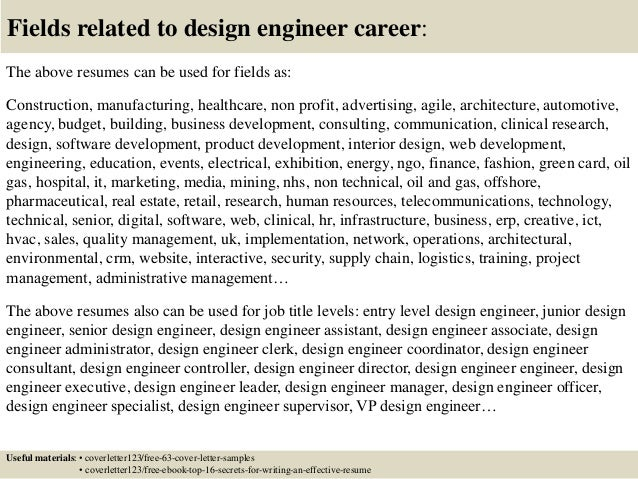 top 5 design engineer cover letter samples