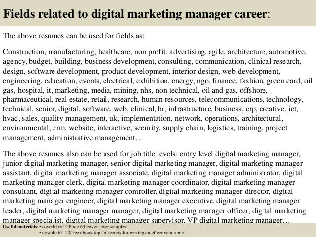 Lovely ... 16. Fields Related To Digital Marketing Manager ...