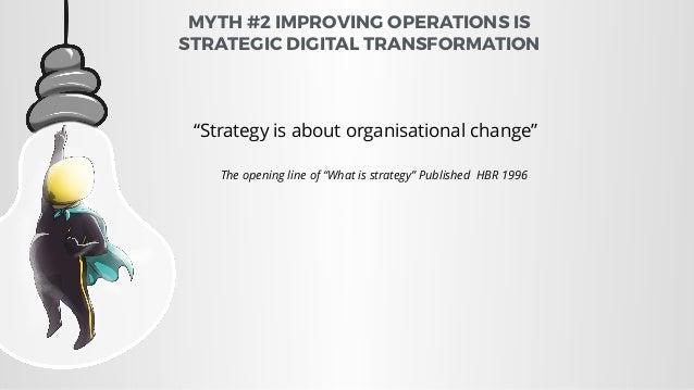 MYTH #3 IMPROVING DIGITAL MARKETING IS DIGITAL TRANSFORMATION