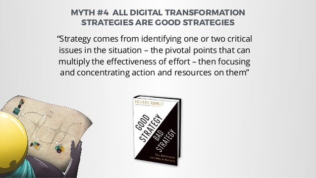 Strategy Kernel Diagnosis Coherent Action Guiding Policy Incoherent   Action MYTH #4 ALL DIGITAL TRANSFORMATION STRATEGIE...