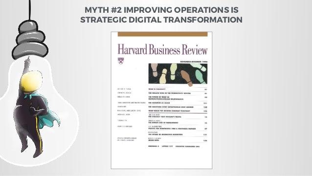 MYTH #2 IMPROVING OPERATIONS IS STRATEGIC DIGITAL TRANSFORMATION