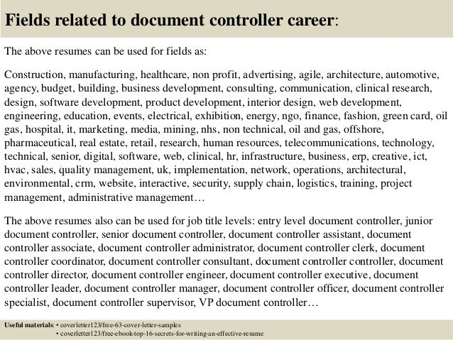 Construction Controller Cover Letter