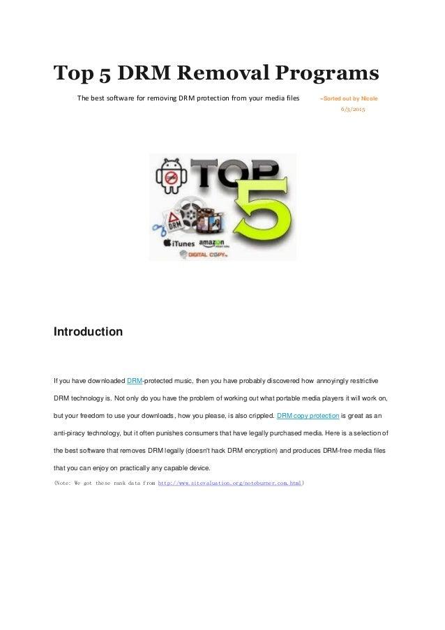 Top 5 drm removal programs