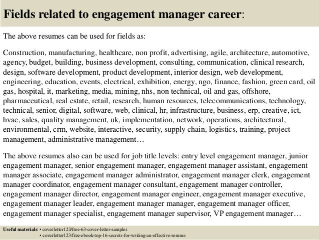 ... 16. Fields Related To Engagement Manager ...
