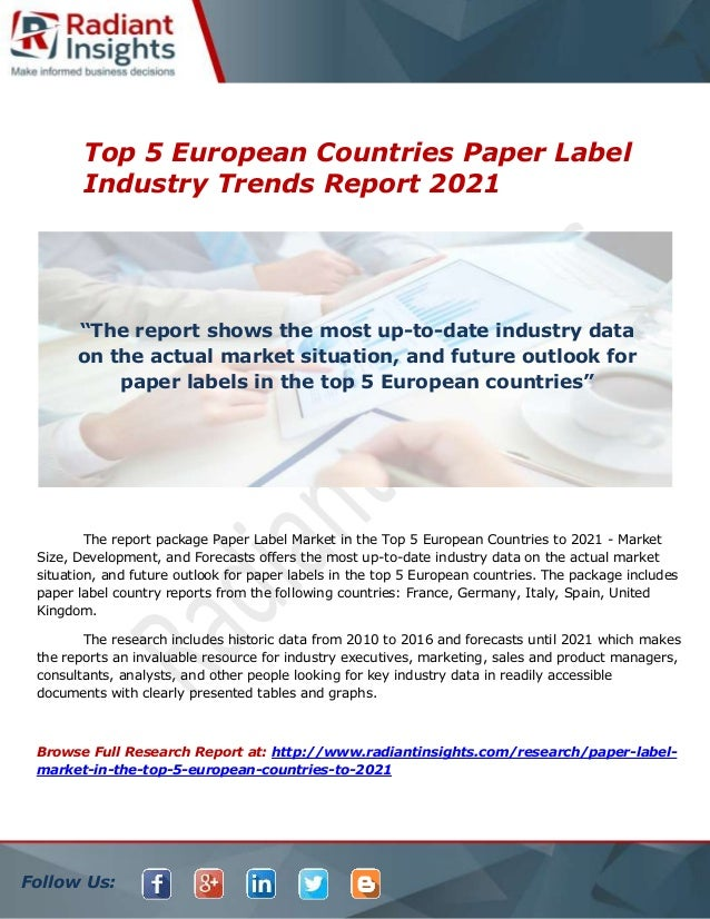 top 5 european countries paper label industry trends report 2021