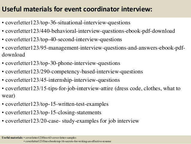 13 useful materials for event coordinator. planning resume event ...