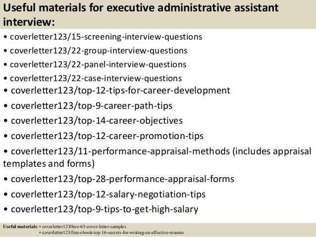 Top 5 executive administrative assistant cover letter samples