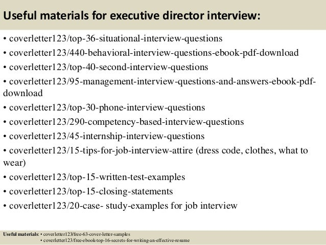 12 useful materials for executive director