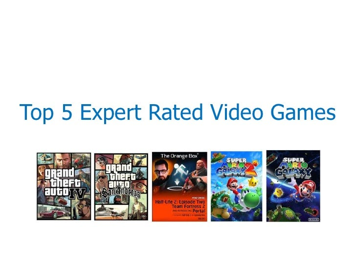 Top 5 Expert Rated Video Games<br />