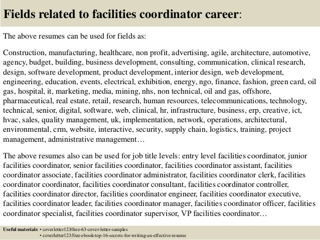 Amazing ... 16. Fields Related To Facilities Coordinator ...