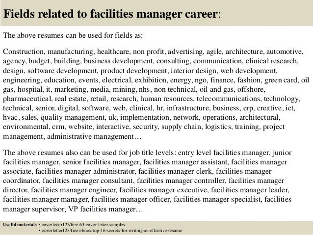 Top 5 facilities manager cover letter samples for Ict officer cover letter