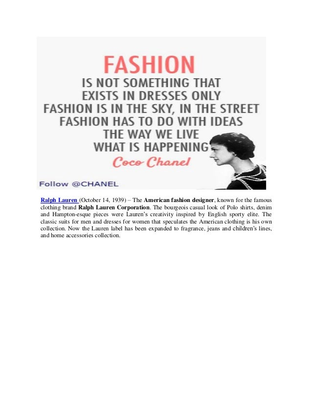 Women S Fashion 5 Most Famous Fashion Designers Of The World