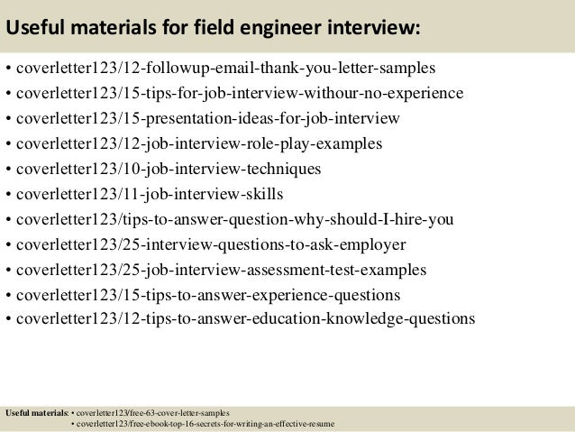 Network field engineer cover letter