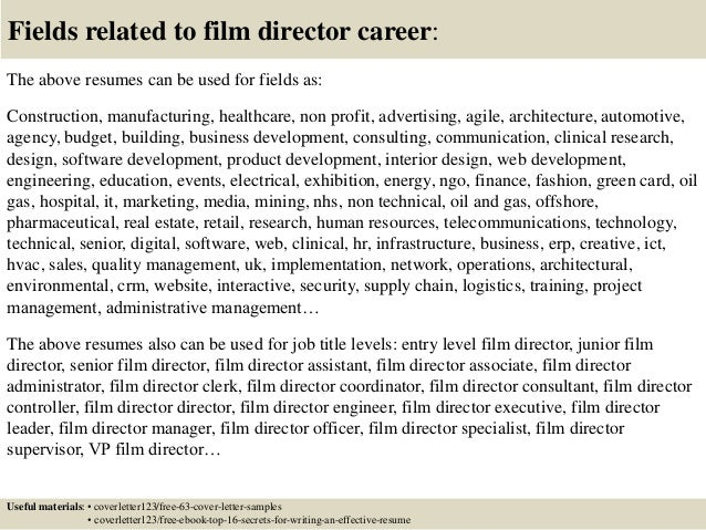 Top 5 film director cover letter samples