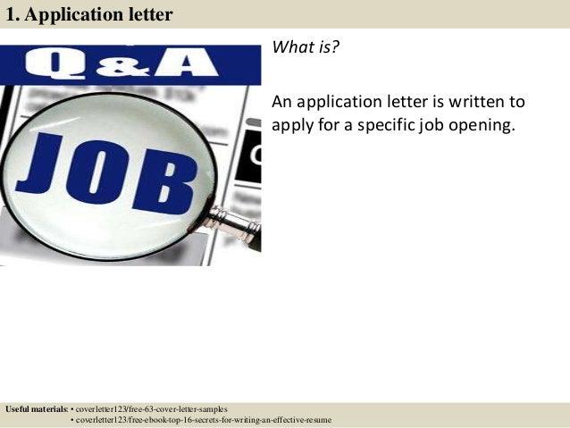 ... 2. 1. Application Letter ...