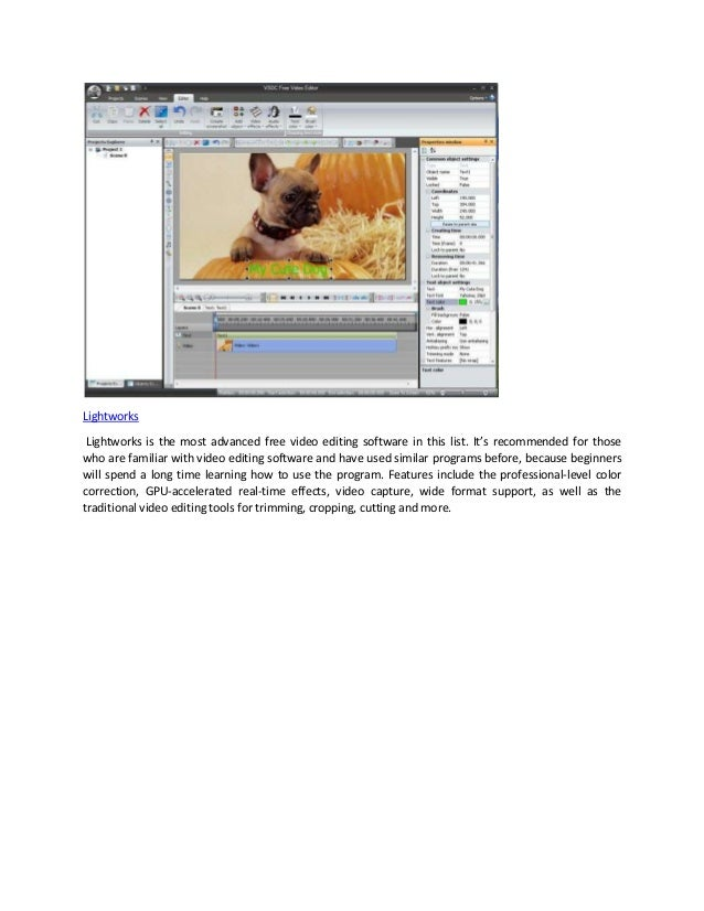 most advanced free video editing software