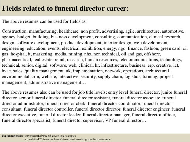 ... 16. Fields Related To Funeral ...