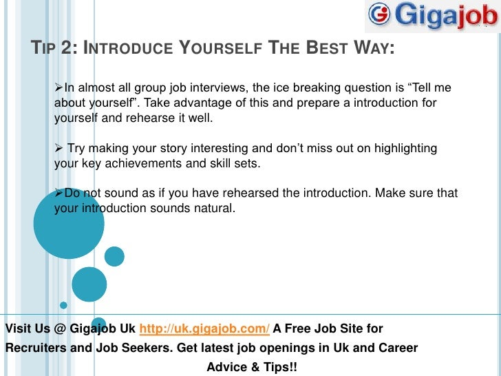 4 tip 2 introduce yourself the best - How To Have A Good Interview Tips For A Good Interview