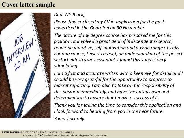 Cover Letter Sample ...