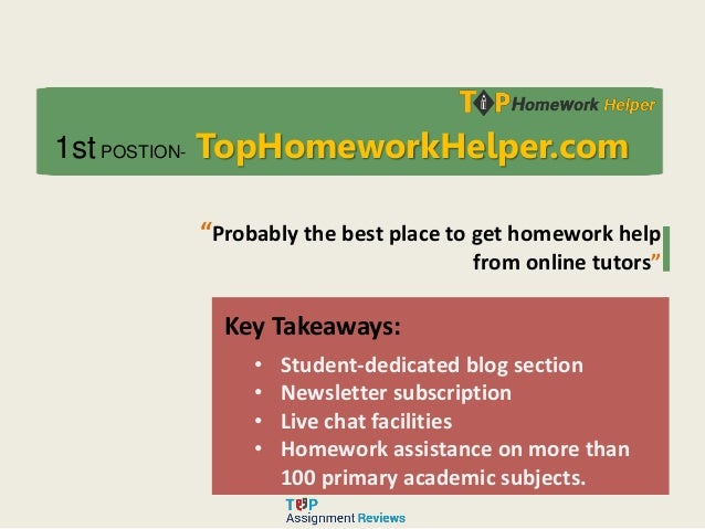 College Homework Help Services Online