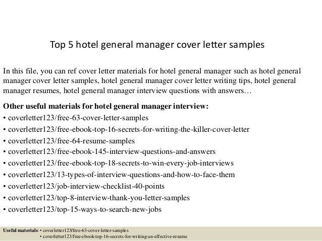 Sample Hotel Management Cover Letter Zaxa Tk