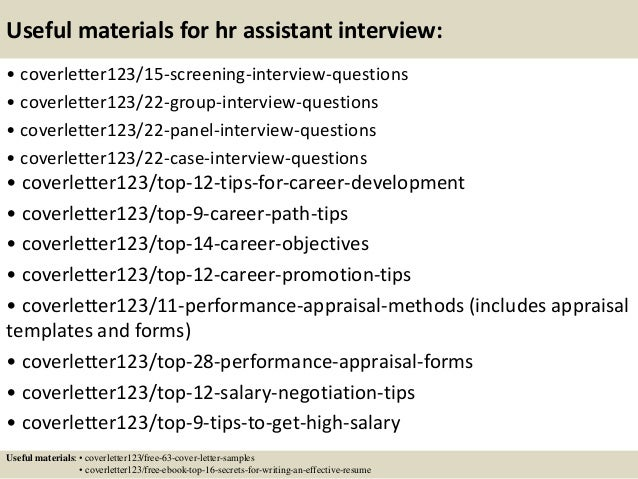 15 useful materials for hr assistant