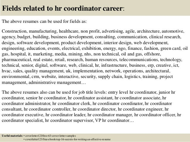 Top 5 hr coordinator cover letter samples