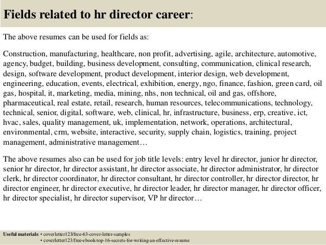 Cover letter for hr director job – Hr Director Job Description