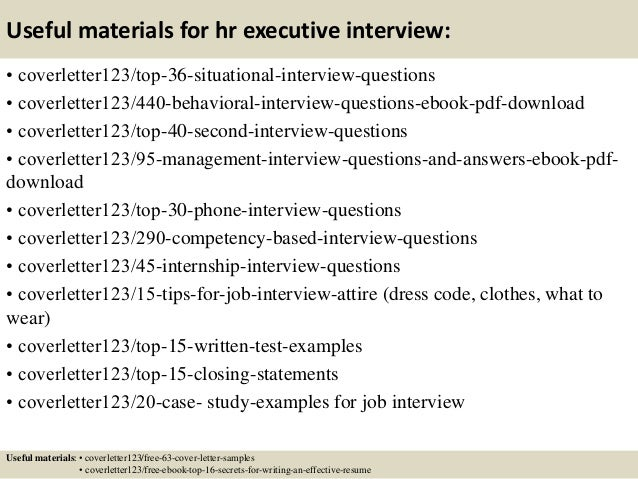 cover letter for hr executive mersn proforum co