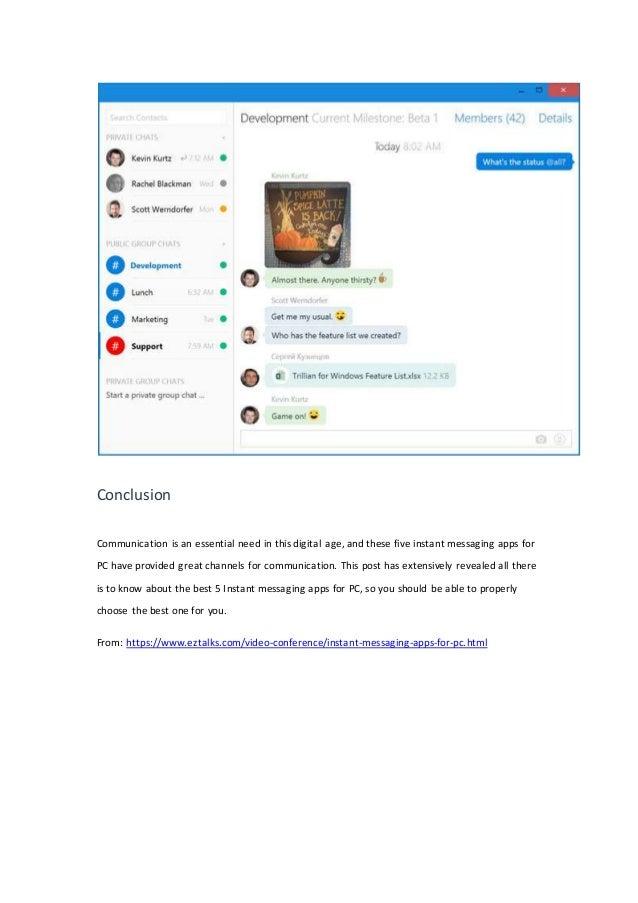 best instant messenger app for pc