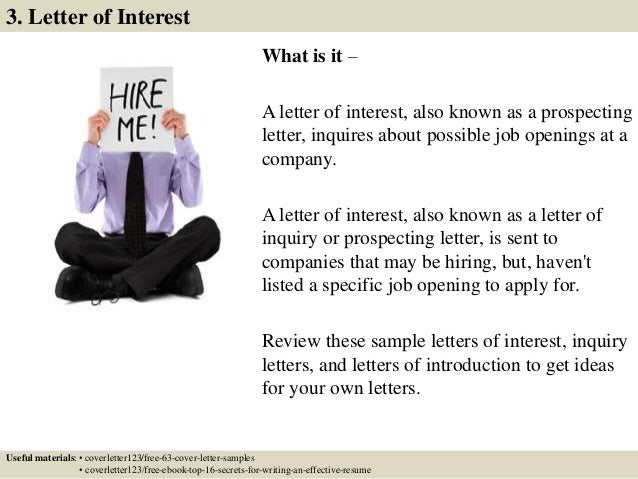 Top 5 it assistant cover letter samples 6 what is it a letter of interest expocarfo