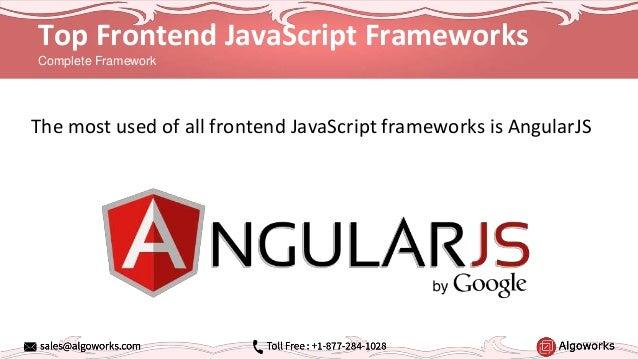 Top 5 Javascript Frameworks for Web and Mobile App Development